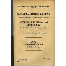 RC051:  Tendering Book for New Works, LNER 1938.