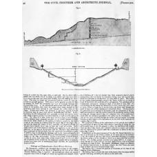 RE047   Landslips in cuttings, 1845.