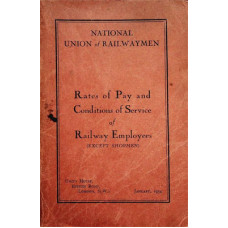 RW014:  Rates of Pay and Conditions of Service, N.U.R. 1934.
