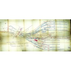 SG068:  Liverpool Street Points and Signals Map, GER 1907.