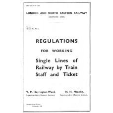 SG069:  Single line working by train staff, LNER 1935.