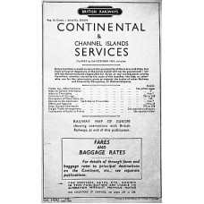 TP028  BR Continental Timetables via Harwich and Tilbury Summer 1959