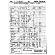 TP011:  East Anglian Timetables Bradshaw 1921