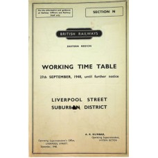 TW062 BR(E) Section N Suburban Working Timetables 1948