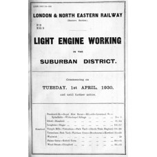 TW073:  Light Engine Workings in the GE Suburban District, LNER 1930.
