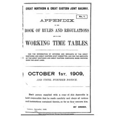 TW028:  GN and GE Appendix to the Working Timetables 1909