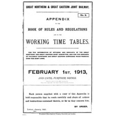 TW029:  GN and GE Appendix to the Working Timetables 1913