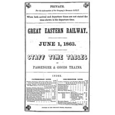 TW002: GER Staff Timetables 1863