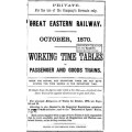 TW004:  GER Working Timetables 1870