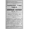 TW065:  LNER GE Section F Suburban Working Timetables 1930.