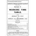 TW068  LNER Working Timetable for the GE area Section A, summer 1930.