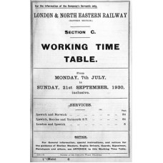 TW070:  LNER Working Timetable for the GE area Section C, summer 1930.