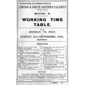 TW071:  LNER Working Timetable for the GE area Section D, Summer 1930.